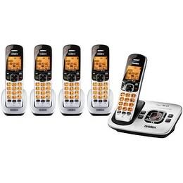 Uniden D1780-5 Cordless Phone w/ Orange Backlit LCD Display & 4 Extra Handsets