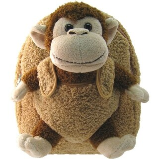 Kreative Kids Unisex Brown Monkey Plush Cute Stylish Animal Backpack