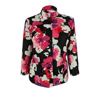 Alfred Dunner Women's Floral Print Jacket