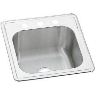 "Elkay ESE202010  Gourmet 20"" Single Basin 20-Gauge Stainless Steel Kitchen Sink for Drop In Installations"
