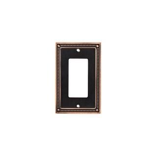 Franklin Brass W35060-C Classic Beaded Single Rocker / GFI Outlet Wall Plate