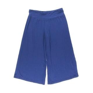 Kensie Womens Stretch Solid Gaucho Pants - XS