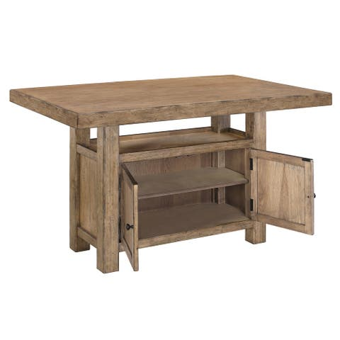 Rectangular Wooden Table with 2 Doors