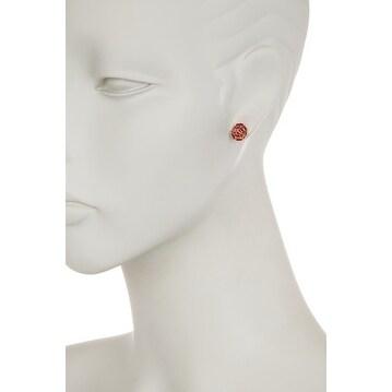 Genuine Ruby Baguette Stud Earring, Baguette Studs, Ruby Earring, Baguette Earrings