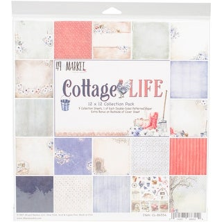 "49 & Market Collection Pack 12""X12""-Cottage Life, 9 Des/1 Ea + Bonus Diecut"