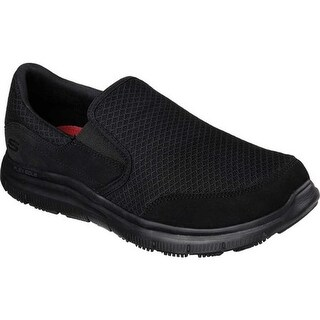 Skechers Men's Work Relaxed Fit Flex Advantage McAllen SR Slip-on Black