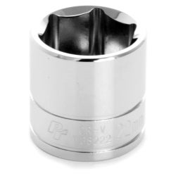 Wilmar W38222 0.37 in. Drive 6 Point Shallow Chrome Socket, 22 mm