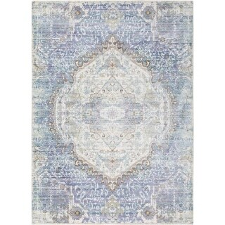 Surya GER2306-211710 Germili 3' x 8' Runner Synthetic Power Loomed Traditional A - Purple