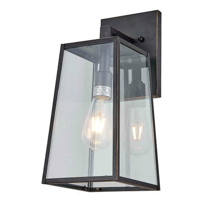 1 Light Outdoor Wall Lantern in Imperial Black Finish - Imperial Black