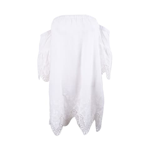 Minkpink Women's Cotton Off-The-Shoulder Cover-Up Dress - White