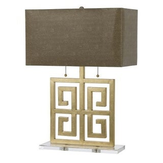 "AF Lighting 8463-TL Horizon Series ""Santorini"" Table Lamp with Natural Faux Snak"