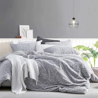 Cracked Glacier - Coma Inducer® Oversized Comforter - Frigid Gray