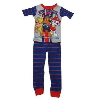 Nickelodeon Boys Royal Blue Paw Patrol Short Sleeve 2 Pc Pajama Set