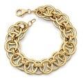 Italian 14k Gold Fancy Link Bracelet - 7.5 inches - Thumbnail 0
