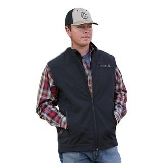 Cinch Western Vest Mens Bonded Logo Softshell Zip Black