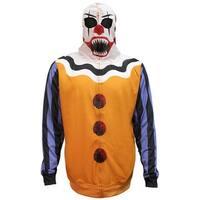 Bioworld Men's Scary Clown Halloween Costume Hoodie