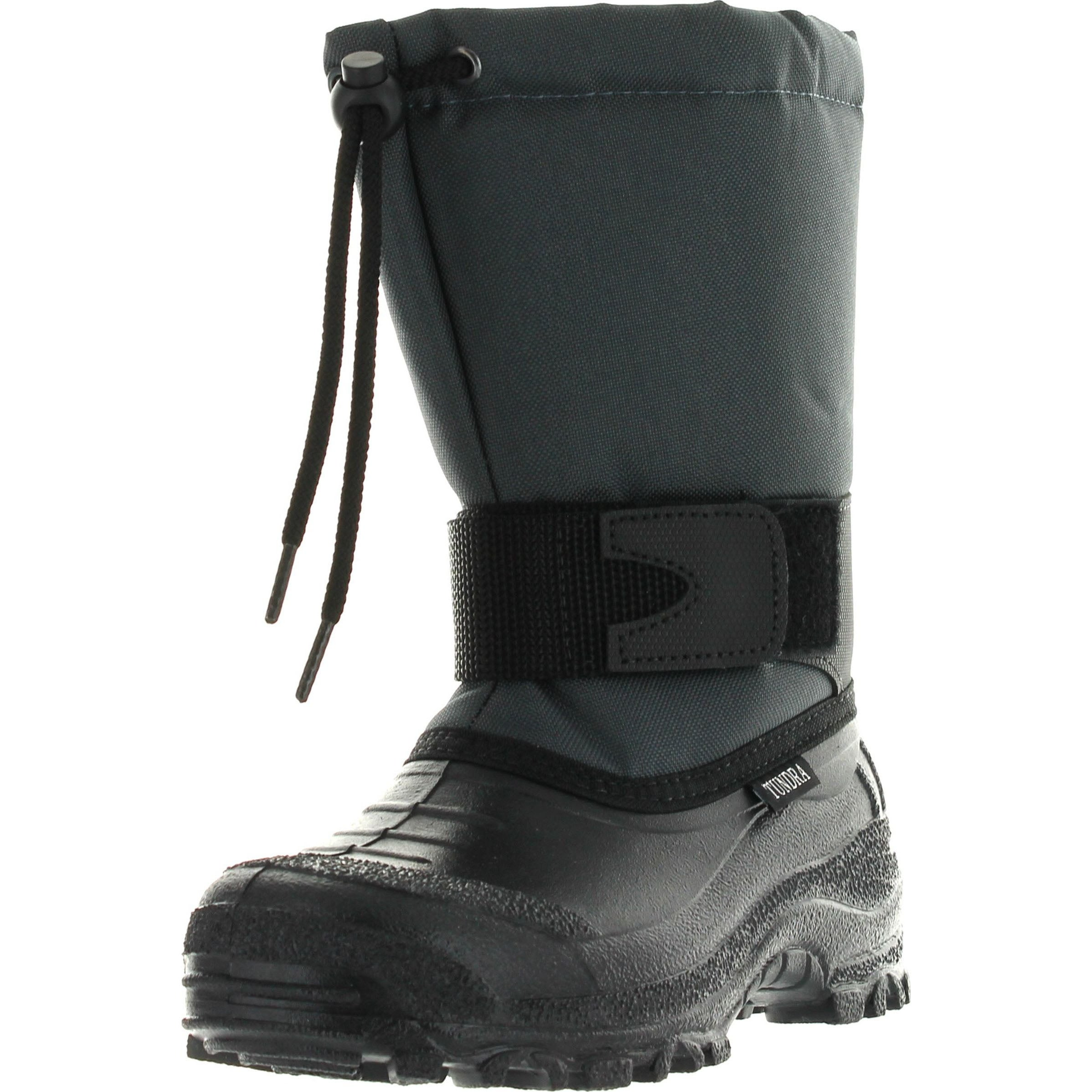 Tundra Boys Montana Waterproof All Weather Snow and Winter Boots Navy