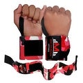 Weight Lifting Wrist Wraps Support Gym Training Bandage Straps Camo Red B-3 - Thumbnail 0