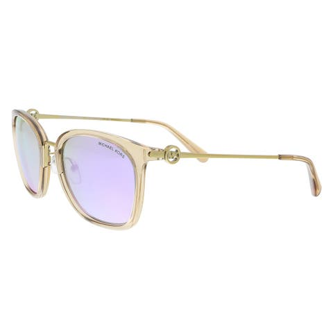 897f2ba211 Michael Kors MK2064 33544V Light Brown Crystal Rectangle Sunglasses -  53-20-140