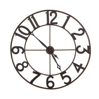 "30"" Trendy Oversized Numbers Open Frame Iron Wall Clock"