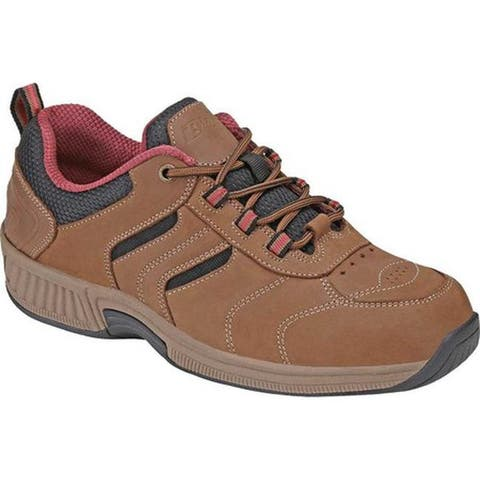 Orthofeet Women's Sonoma Sneaker Brown Nubuck