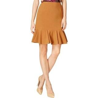 Nine West Womens Berry Harvest Flounce Skirt Pleated Knee-Length