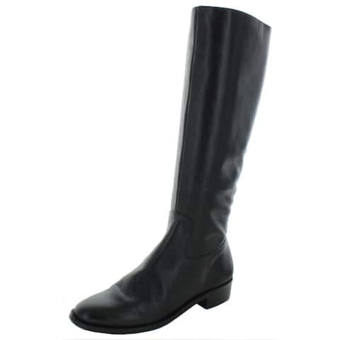 "Elites by Walking Cradles Womens Mate 14"" Riding Boots Leather Knee-High - Black"