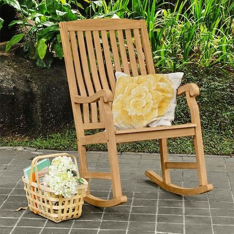 Cambridge Casual Sherwood Teak Outdoor Rocking Chair