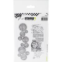 Carabelle Studio Cling Stamp A6-Circles & Text