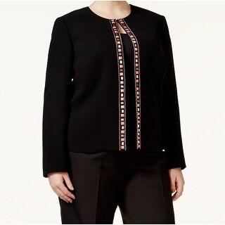 Tahari by ASL NEW Black Embellished Women's Size 22W Plus Blazer