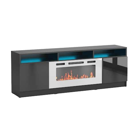 "Reno WH05 Electric Fireplace Modern 63"" TV Stand"