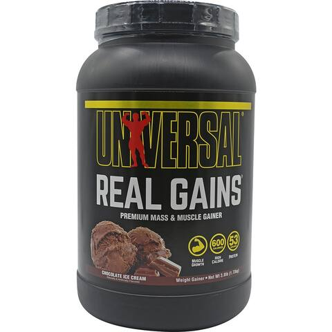 Universal Nutrition Real Gains - 11 Servings - Chocolate Ice Cream - 11 Servings