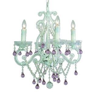 Purple ceiling lights for less overstock bethel international ko 23 4 light 16 wide chandelier mozeypictures Gallery