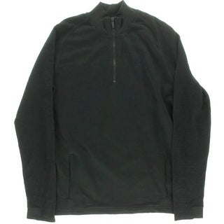 Calvin Klein Jeans Mens French Terry Ribbed Knit 1/2 Zip Sweater - XXL