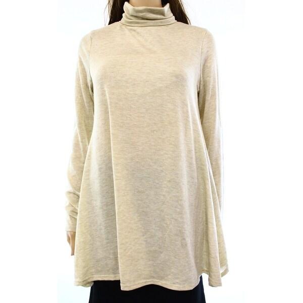 Cotton Emporium NEW Beige Women's Size Small S Turtleneck Sweater