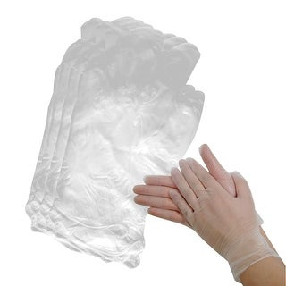Unique Bargains 50 Pairs Protective Powder Free Disposable Anti-static Vinyl Gloves