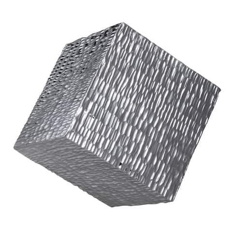 Uttermost Jessamine Silver Wall Cube