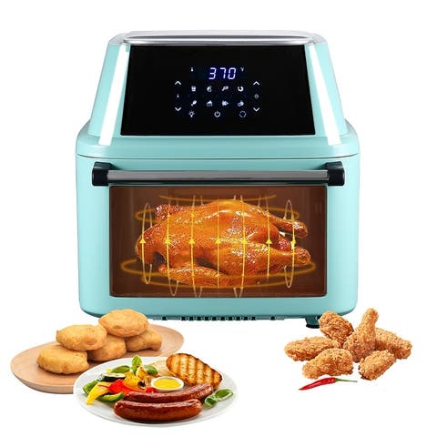 16.9Qt Multi-functional Digital Air Fryer Oven Large Cooking Dehydrator Rotisserie - 16.91Quarts