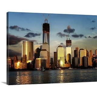 """""""Manhattan at Sunset, New York City"""" Canvas Wall Art"""