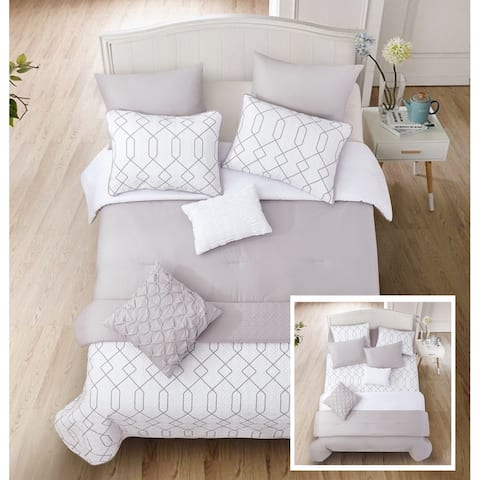 Riverbrook Home Alexander 8 Piece 100 Percent Cotton Comforter & Coverlet Set