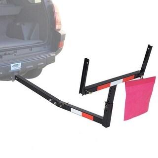 Costway Pick Up Truck Bed Hitch Extender Adjustable Steel Extension Rack Loads Flag