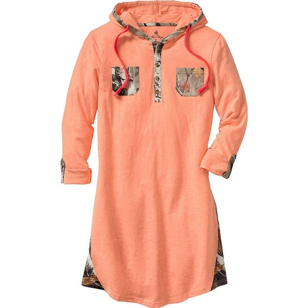 Legendary Whitetails Ladies Coral Reef Swim Cover-Up Camo Dress - hot coral heather