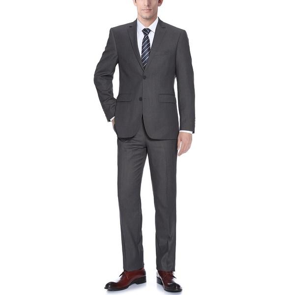 Mens 2-Piece Suit Two Button Modern Business Slim Fit Dress Suit