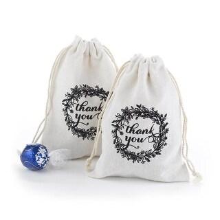 Hortense B. Hewitt 54040 Rustic Wreath Cotton Favor Bags