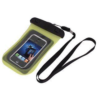 Unique Bargains Universal Waterproof Case Dry Bag Protective Cover Pouch Yellow for Cell Phone