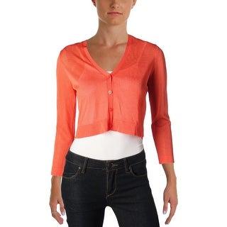Lauren Ralph Lauren Womens Petites Chesca Cardigan Sweater V-Neck Button-Down