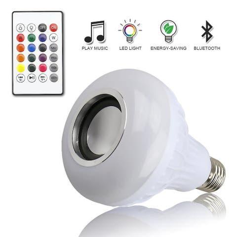 Wireless Bluetooth LED Light Bulb with Speaker E27 Remote 12W - L