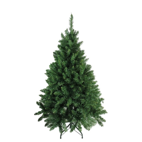 """4.5' x 37"""" Buffalo Fir Full Artificial Christmas Tree - Unlit - green"""