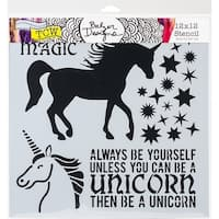 "Crafter's Workshop Template 12""X12""-Unicorn"