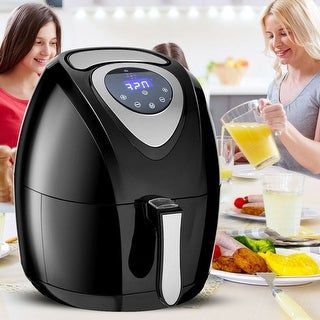Costway 1400W Electric Air Fryer 3.4QT Oil Free LCD Touch Timer and Temperature Control